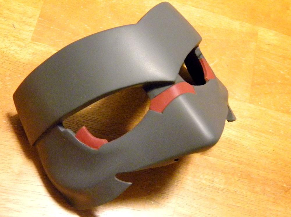 The finished half mask.