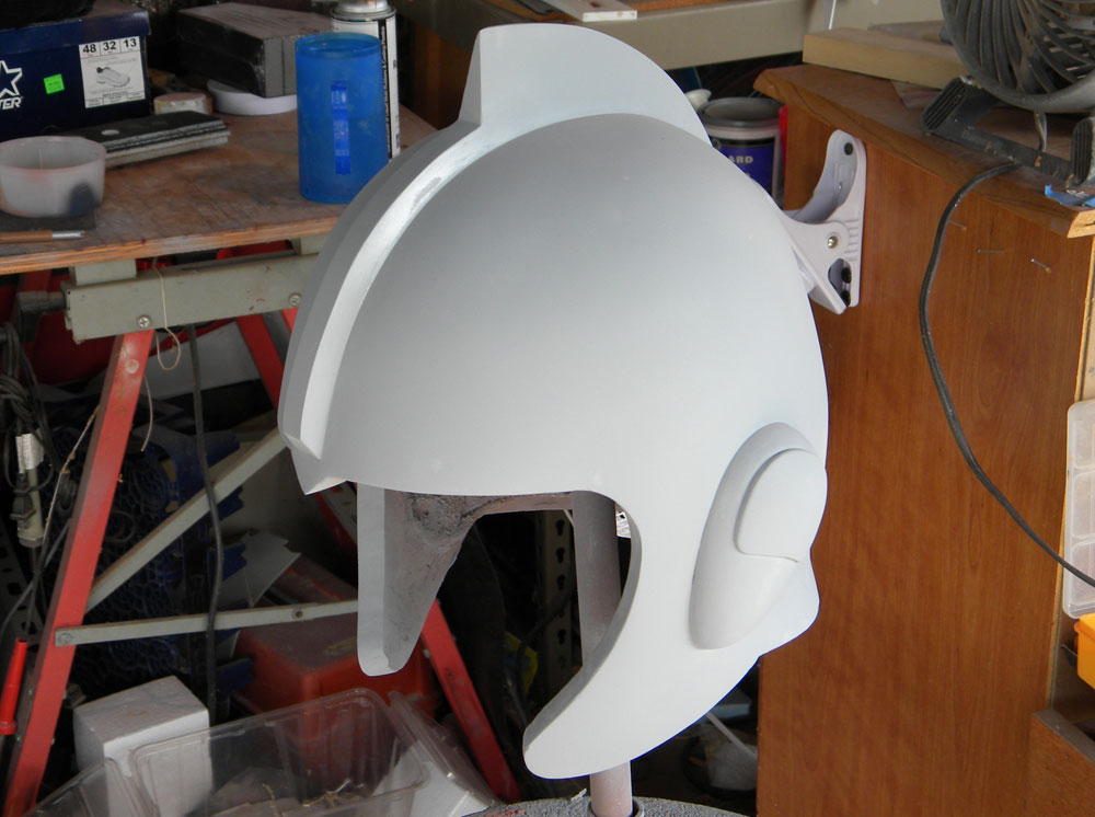 The final crest blended into the helmet.