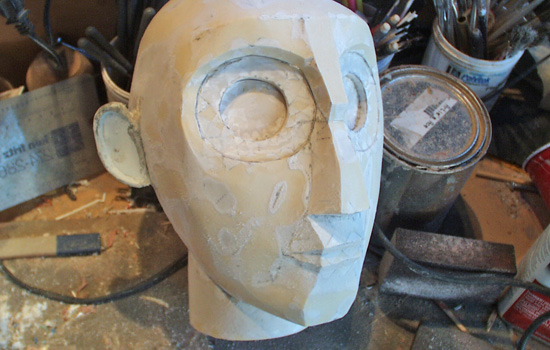 """I slush cast several coats of plastic resin inside the paper until I had built up a wall thickness of 1/8"""". The paper was sanded off and facets smoothed."""