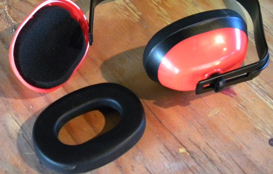I stole the vinyl covered padding from a set of cheap Harbor Freight hearing protectors.