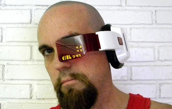 Me wearing the Scouter.