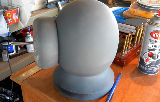The bowl rim re-attached to the head.