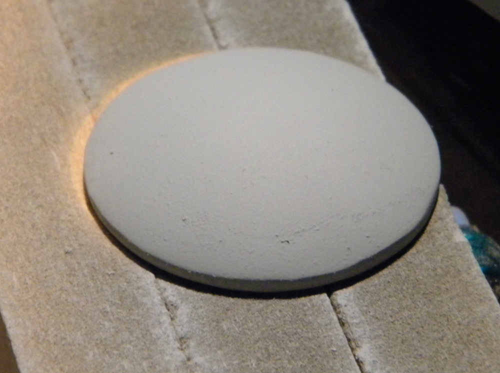 The surface was sanded smooth in preparation for molding.