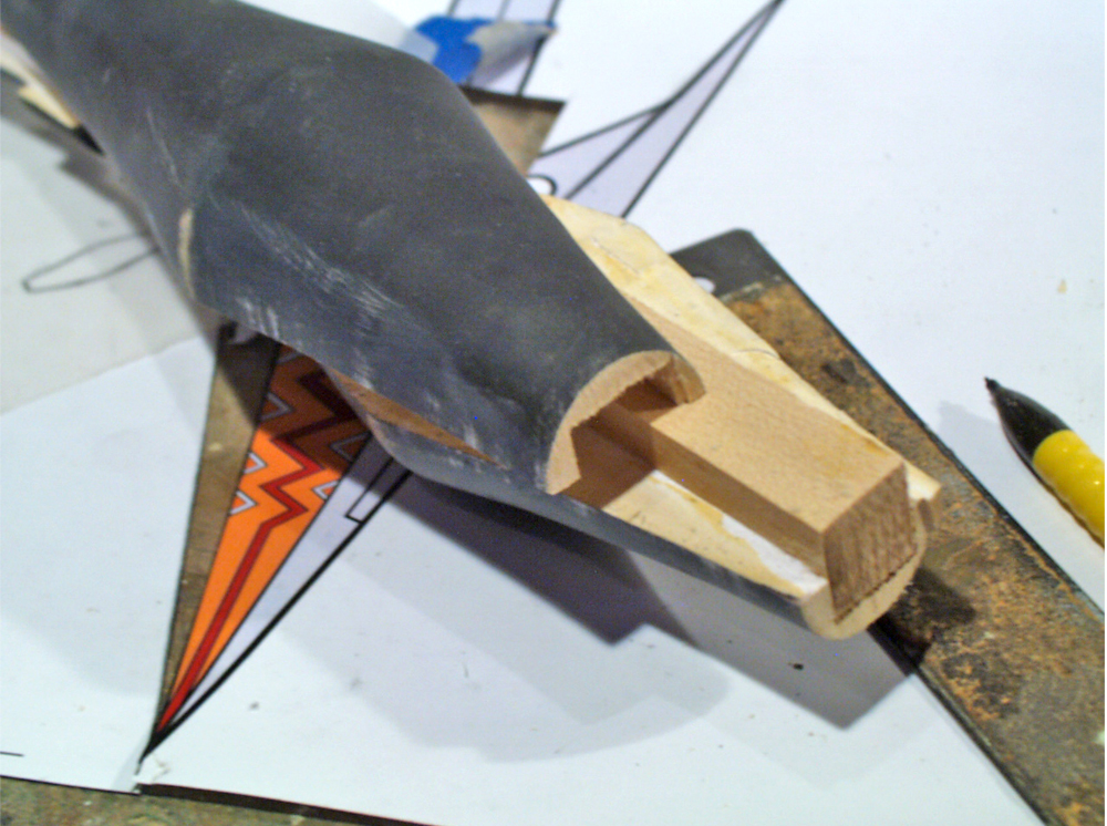 I used a Dremel sander to shape the transition to the square shaft.