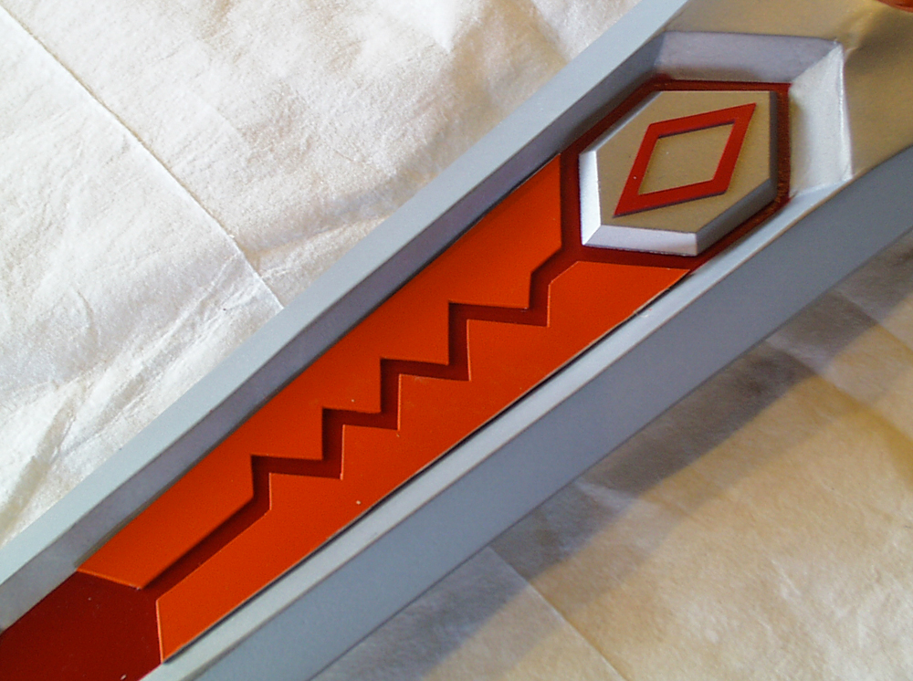 I cut the zig-zag detail from thick styrene and glued them into the recesses.