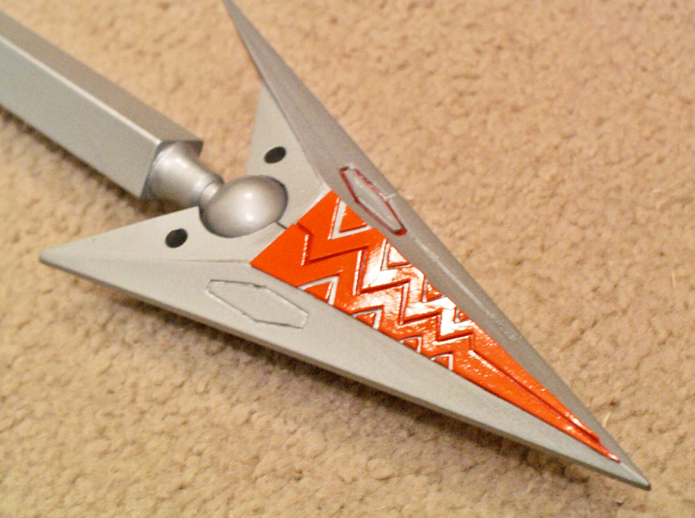 Detail of the finished tail spike.
