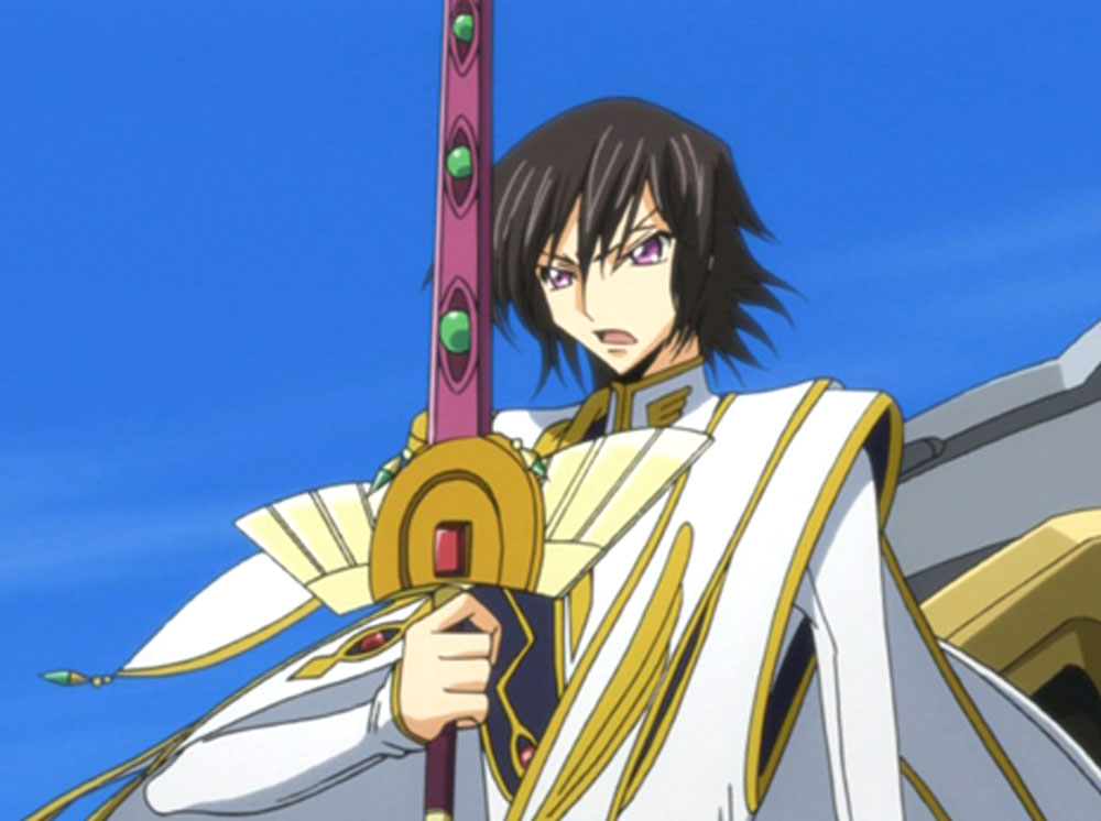 I was commissioned to build the sword of Emperor LeLouch. A scabbard to fit it was also requested.