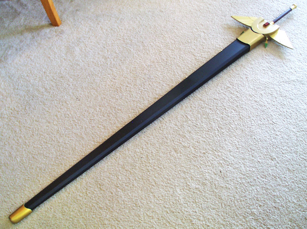 I also built a scabbard for the sword.