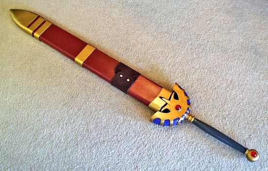 Sword in scabbard.