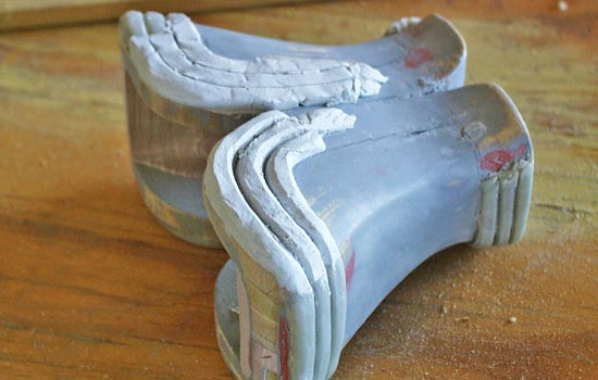 Instead of using plastic for the trim, I used epoxy putty, sculpting and sanding it to shape.