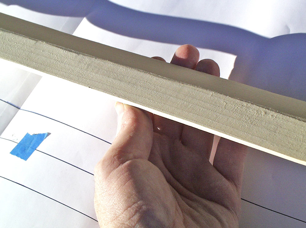 """The blade was shaped to leave a 1/8″ flat edge to make it """"convention safe""""."""