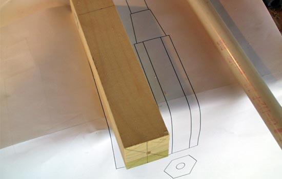 """The muzzle block started as a 2"""" x 2"""" block of poplar."""
