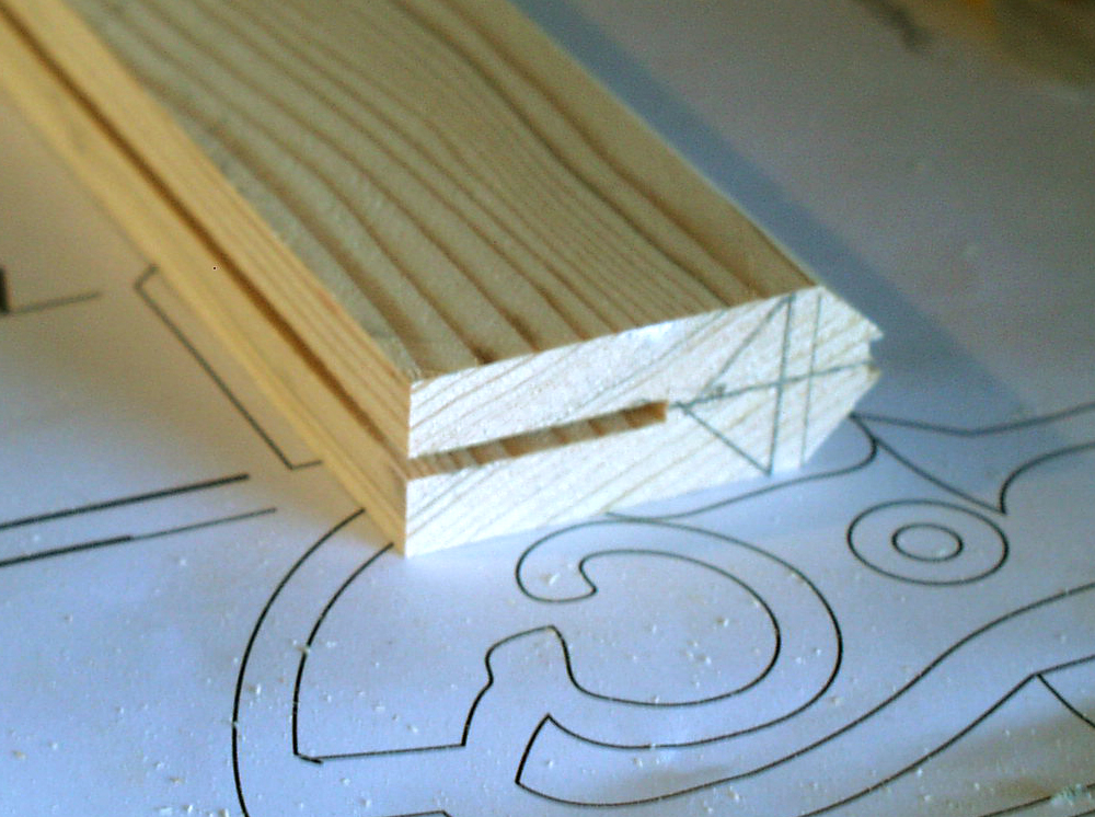 I then cut a slot on the bottom for the blade.