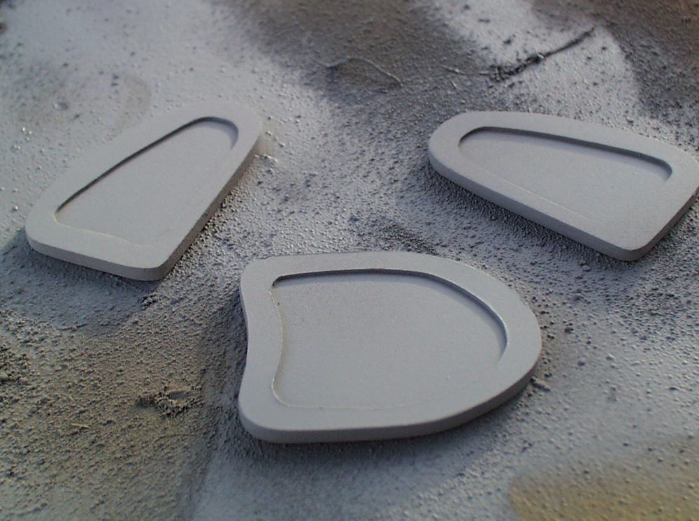 The decorative plates were cut from .060 plastic with a trim cut from .040 plastic.