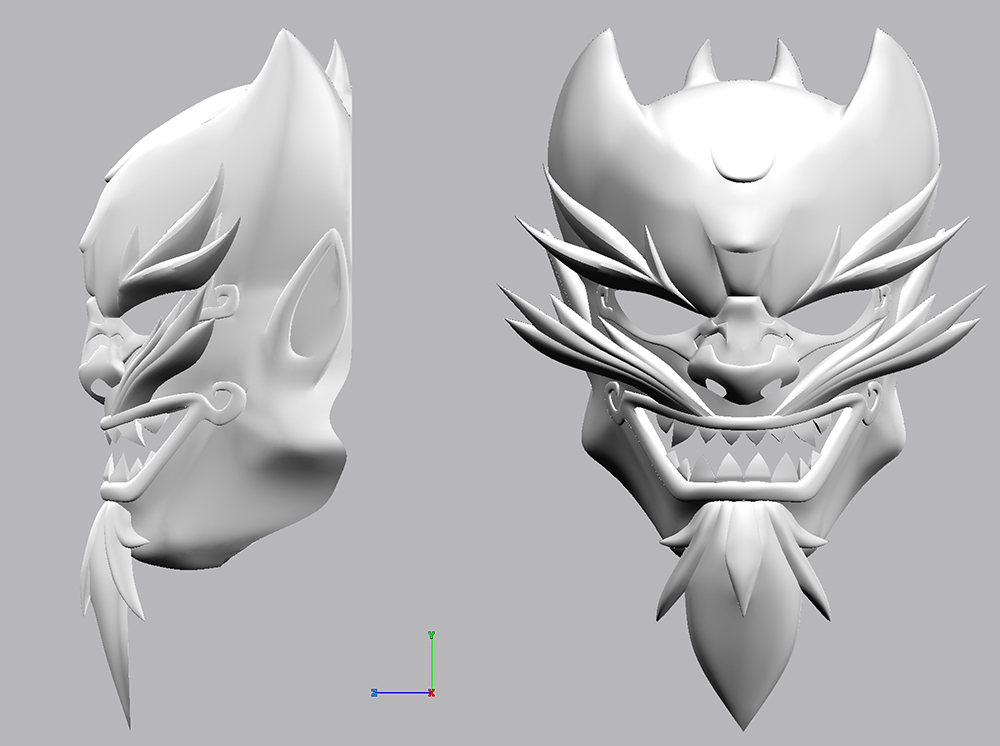 I pulled the plans into Strata3D and modeled the mask.