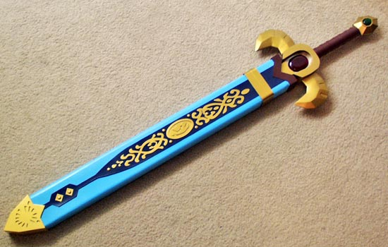 The final sword in the completed scabbard.