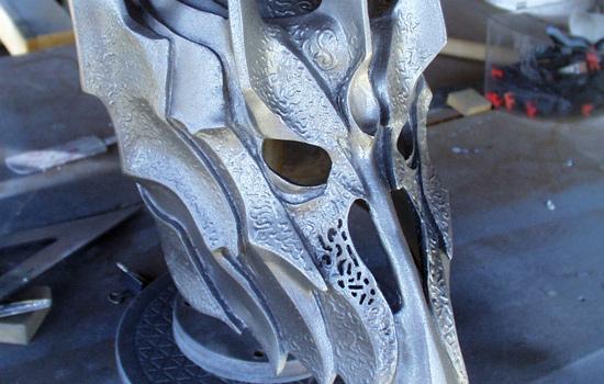 A base coat of metallic paint.