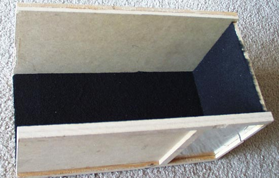 The inner box was lined with black felt.