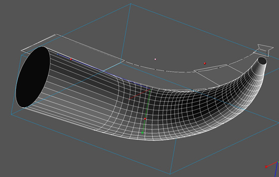 I considered using a real horn as a base but couldn't be sure that I could get one the right size with the right curves. I decided to model the horn in 3-D to control these factors.