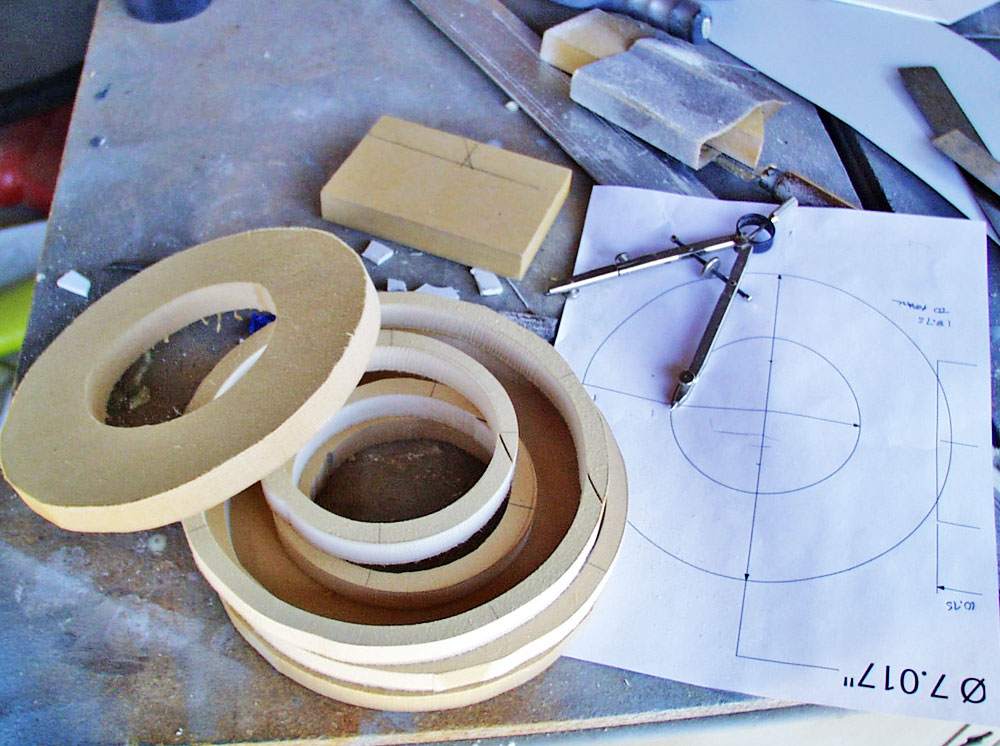 The end ring was made from layers of MDF to form a hollow box.