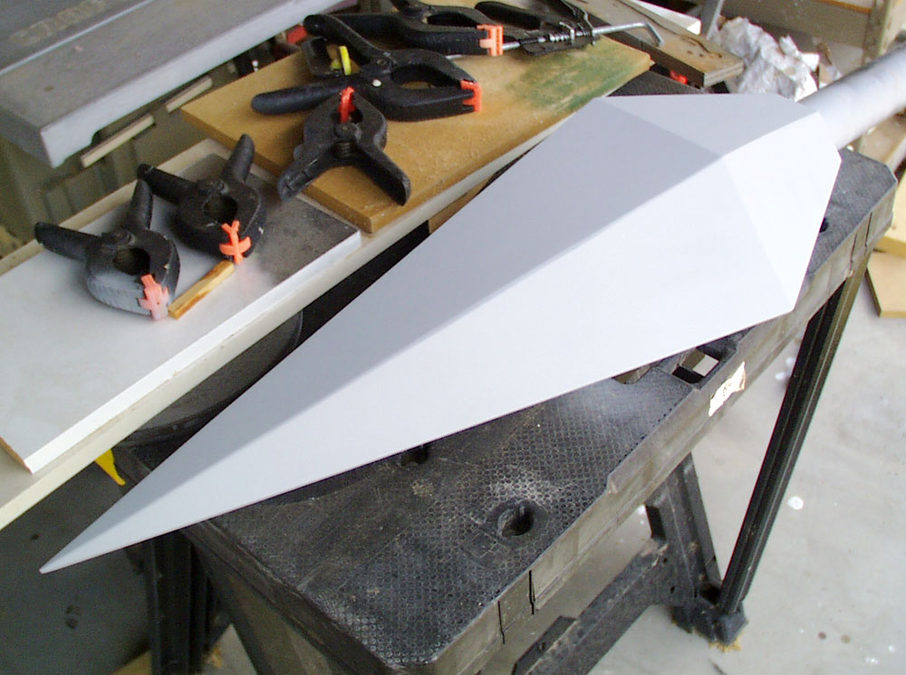 The final blade painted with primer.
