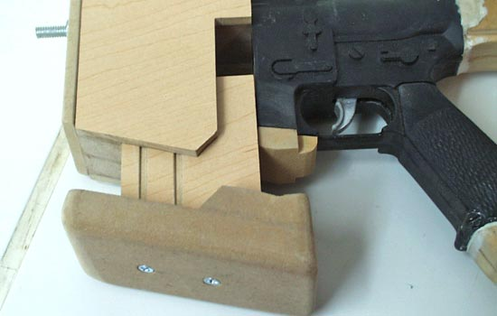 The magazine fit like a glove, needing no mechanism to hold it in place.