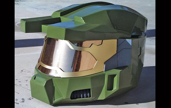 Amazingly enough, the opaque pattern on the visor doesn't restrict my field of vision at all!