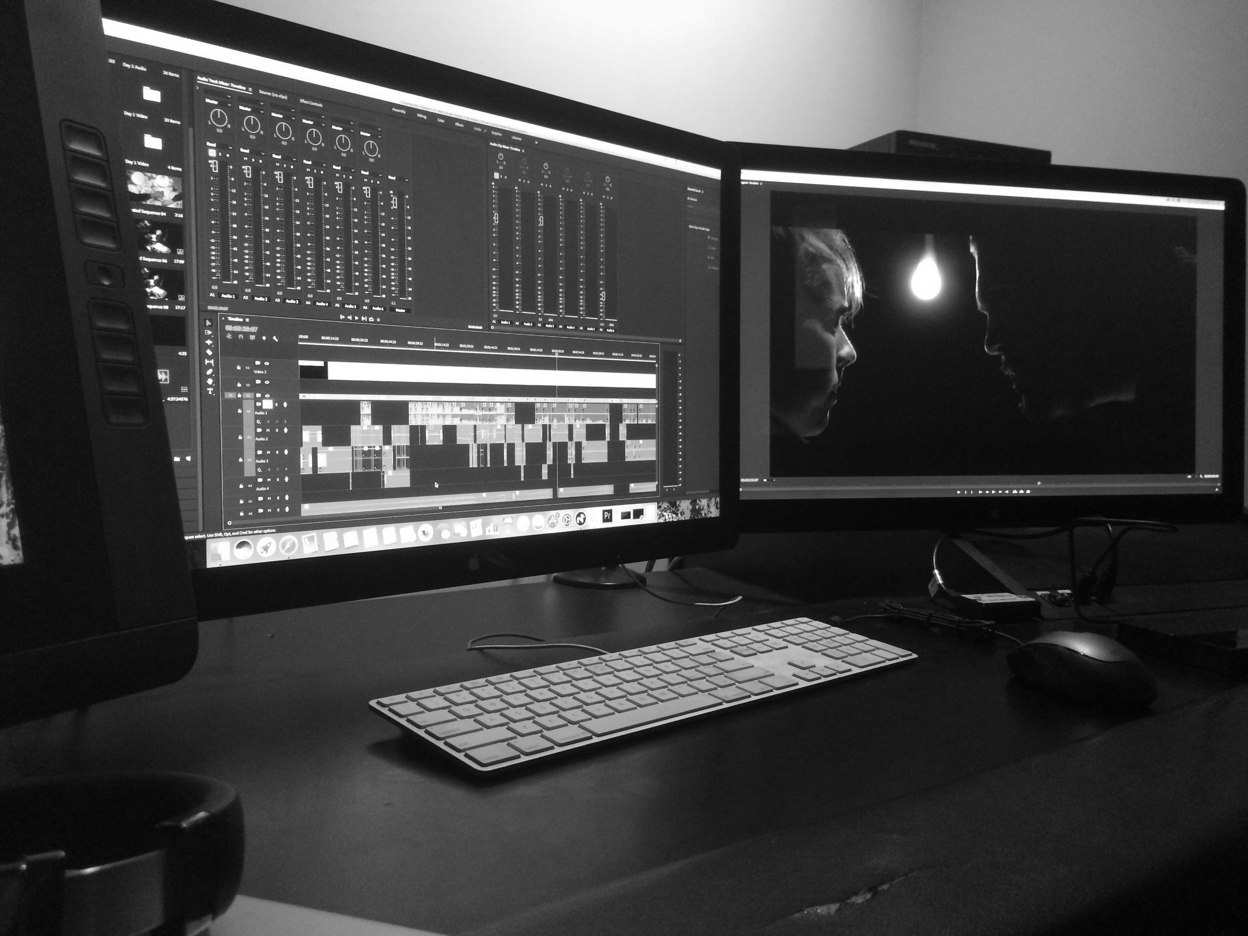 Post-Production - September 2018 - April 2019While we were in principal photography, our lead editor was on set as our digital information technician so he was able to properly sort all 14 TB of footage and start the edit.We're currently in post-production and are aiming for a picture lock by Christmas.In 2019 our sound team will really kick into gear working on foley, FX, and mixing, our VFX team will finalize their shots, we'll begin color grading, conduct ADR, and our composers will score the piece as we ramp up marketing and move closer to release.