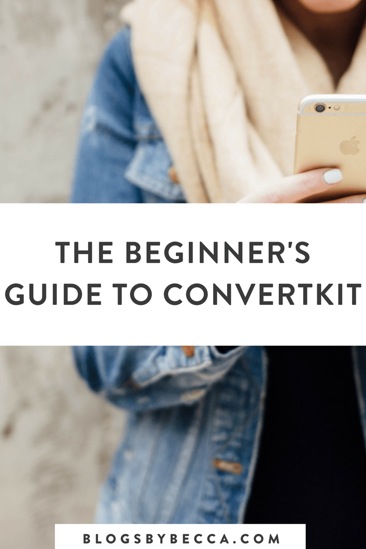 The Beginner's Guide to ConvertKit! This is how to use ConvertKit. Click to learn about all of the features that ConvertKit offers for bloggers. #blog, #blogging, #blogtips