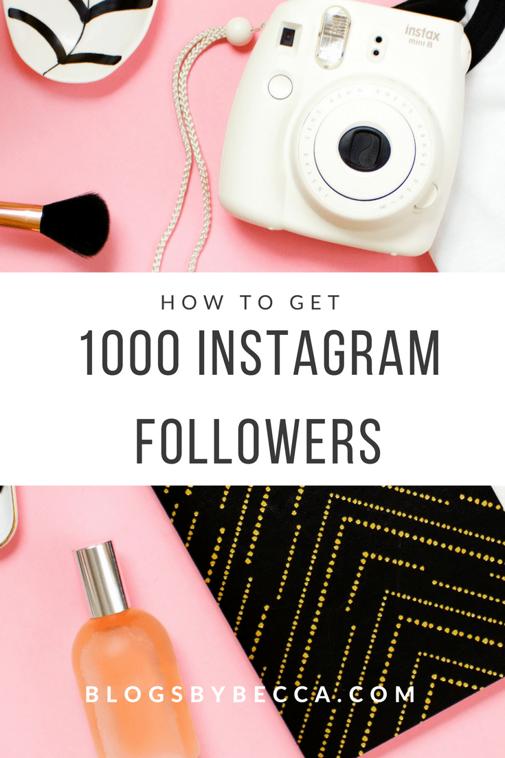 How to Get Instagram Followers! Get your first 1000 Instagram followers with these Instagram tips and tricks! Perfect for bloggers looking for Instagram apps and Instagram tools to grow your blog. Click through to see the tips!