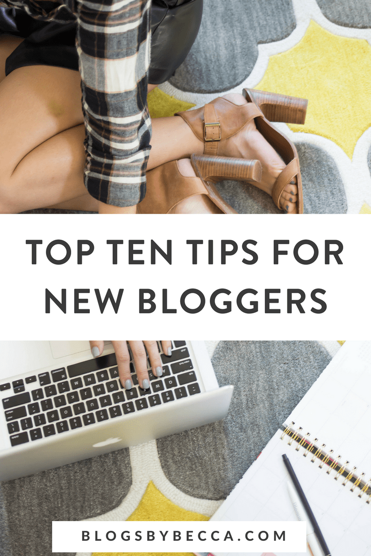 Top Ten Tips for New Bloggers! Check out these great blogging tips and social media tips for beginner bloggers! Click through to check them out! #blog, #blogger, #blogging, #blogtips, #blogandbiz