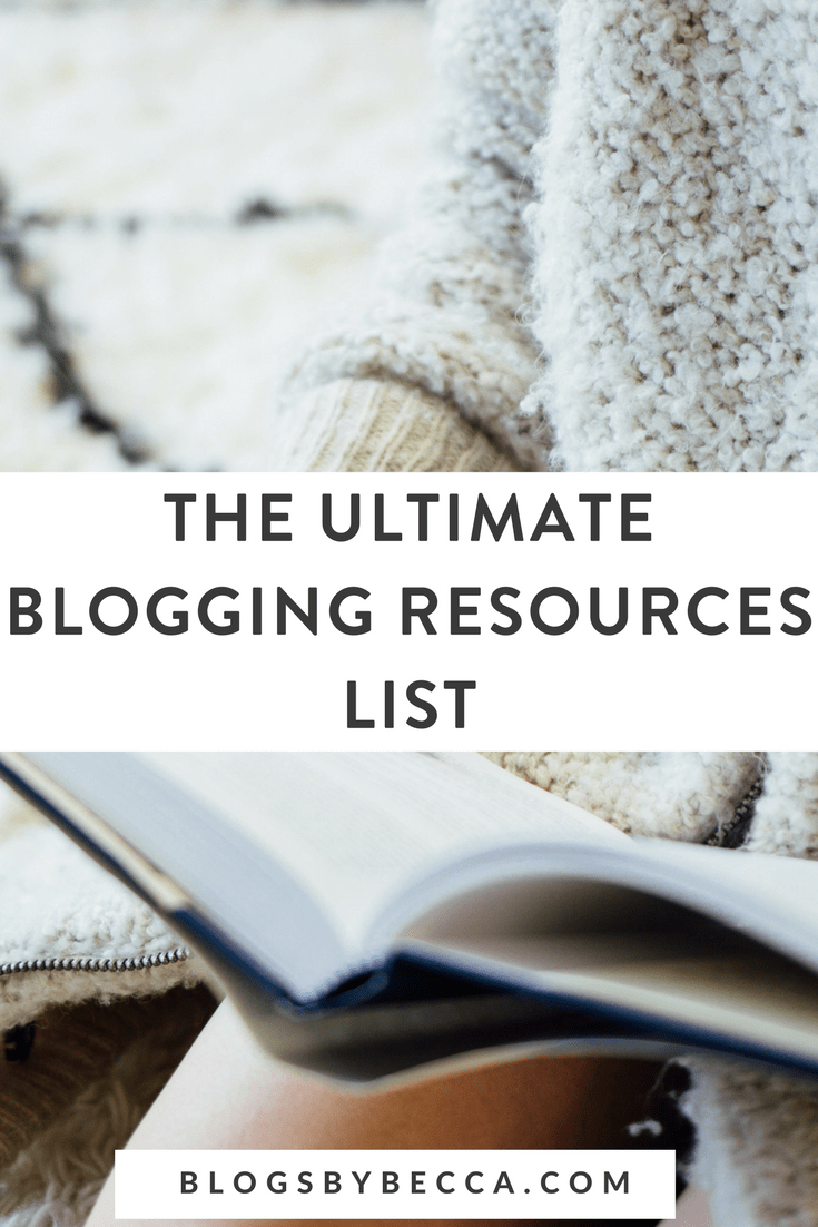 The Ultimate Blogging Resources List! Click through to get resources for blogging and social media! #blogging, #blogger, #blog, #blogtips, #socialmedia, #socialmediamarketing, #socialmediatips