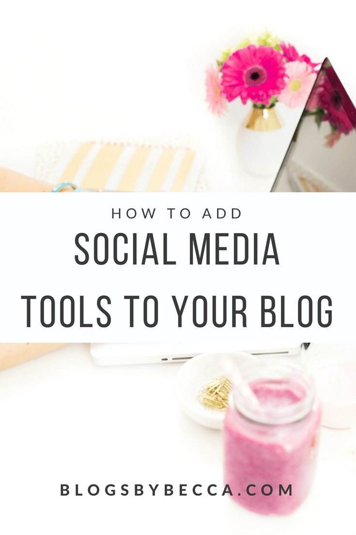 How to Add Social Media Features To Your Blog. Get more social media followers and more social media shares with these blog tools! Click through to find out more!