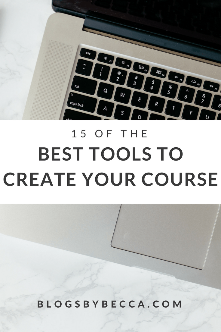 The best tools to create your online course! Get this list for bloggers and course creators. Webinars, course content, email lists, and more. Check it out!