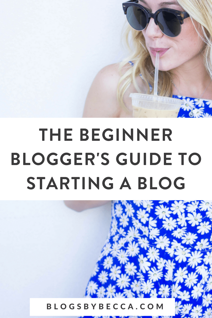 The Beginner Blogger's Guide to Starting a Blog! Click through to learn blogging tips, social media tips, and more for beginner bloggers! #blogging, #blogtips, #socialmedia, #beginnerblogger, #blogandbiz