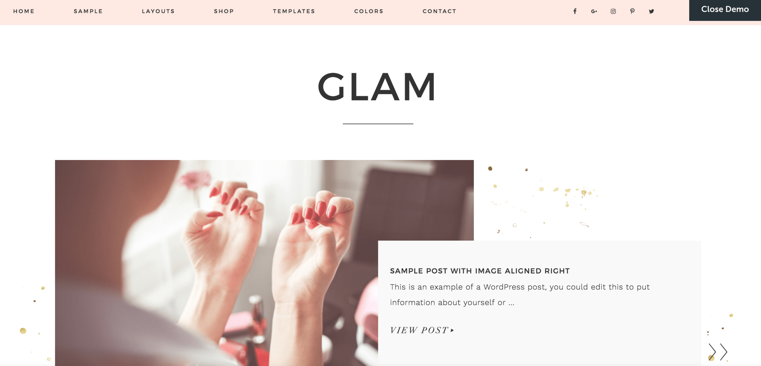 Best Wordpress Themes Glam Pro