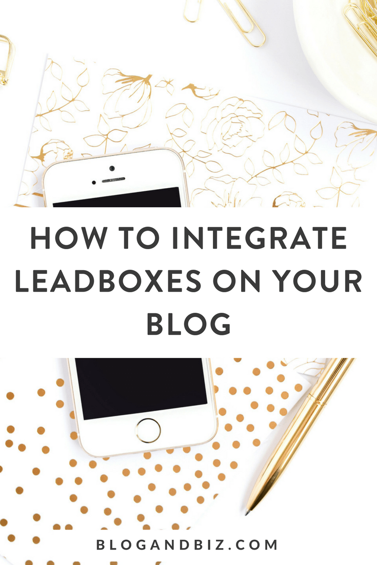 How to Integrate Leadboxes with your blog. You can use Leadpages to put content upgrades in your blog posts! This is a great blog tip for beginner bloggers! #blogging, #blogtips, #blogandbiz