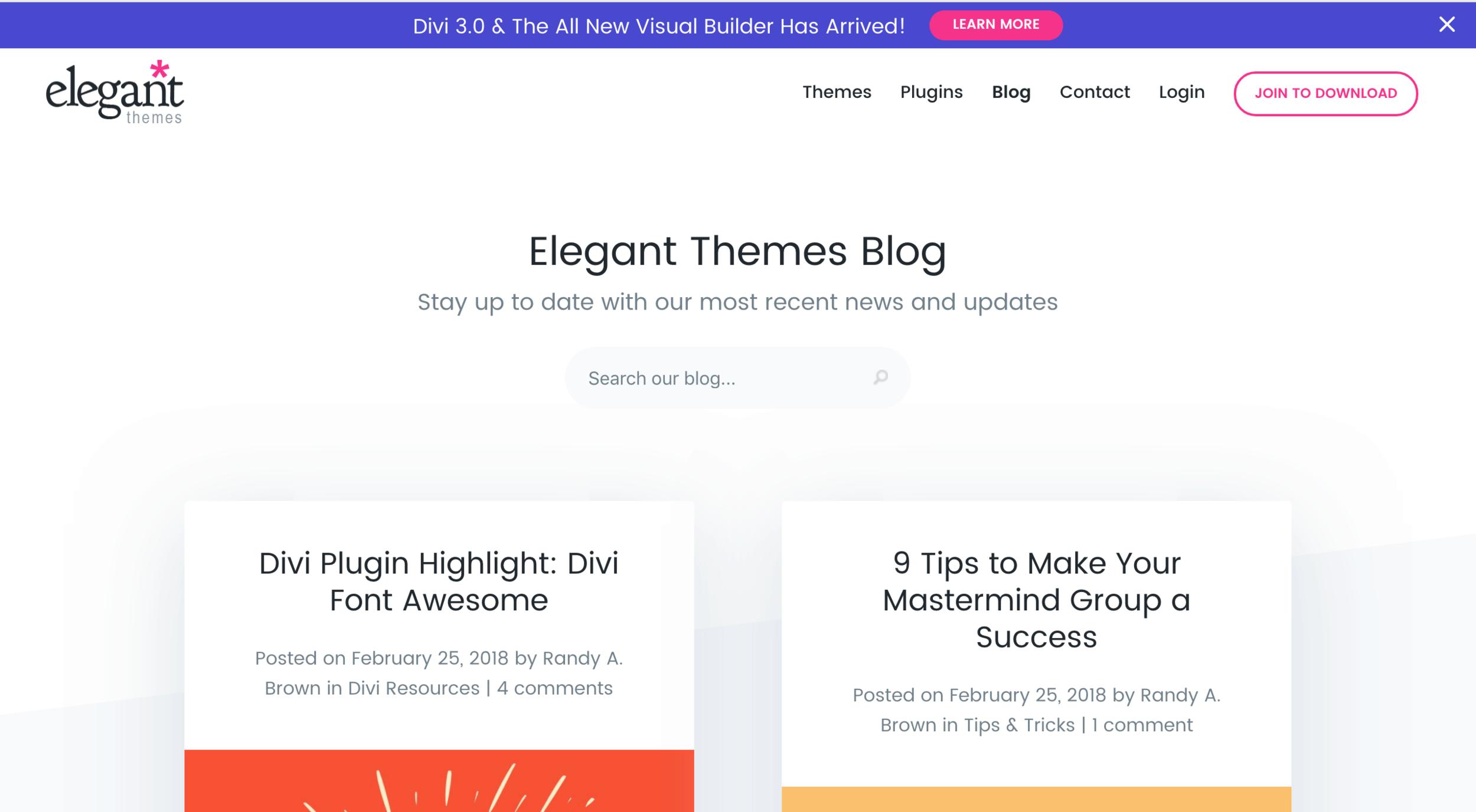 Divi blog