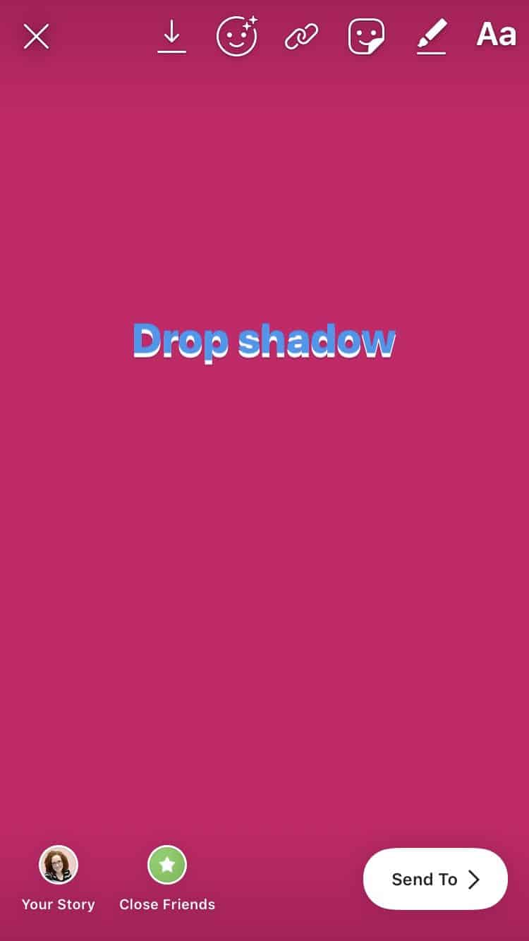 Instagram Stories Drop Shadow