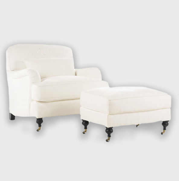 classique chair with ottoman upholstered POSTOBELLO.png