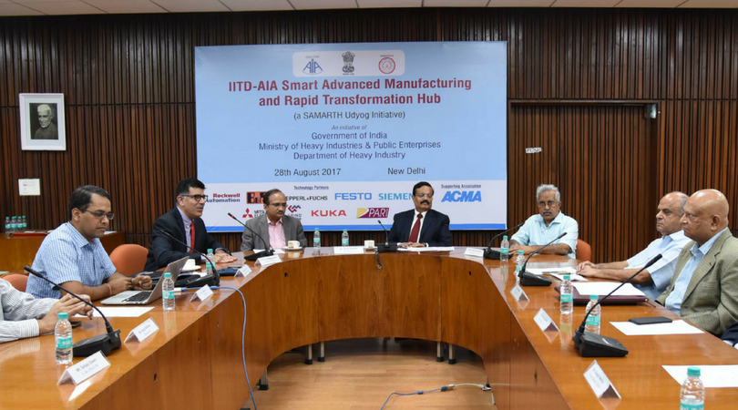 Launching IAFSM - IITD and AIA have launched the 'Foundation for Smart Manufacturing', a fully integrated smart manufacturing and learning facility for discrete and hybrid manufacturing segments such as automotive, machine tools, consumer durables and processed food, and others.Learn More