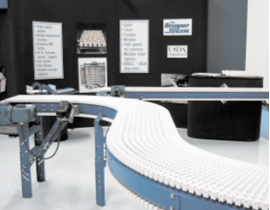 A simulation of proposed frozen-pancake conveyor system allowed corrections in the design phase of the project, where they are significantly cheaper to implement.