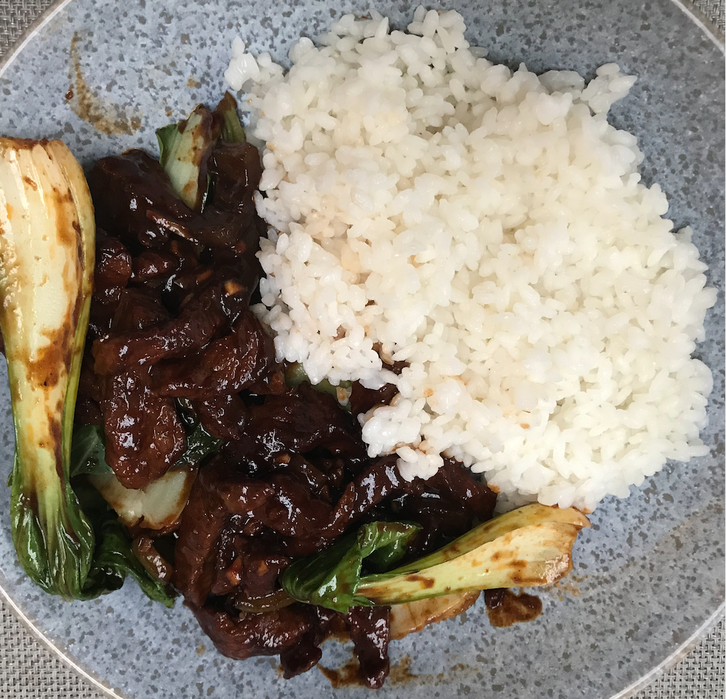 Stir Fry Beef With Green Peppers & Pak Choi
