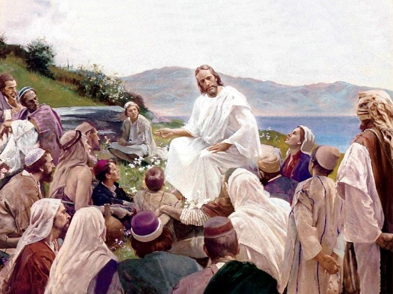 """""""When Jesus saw the crowds, he went up the mountain, and after he sat down, his disciples came to him. He began to teach…""""    Matthew 5:1-2"""