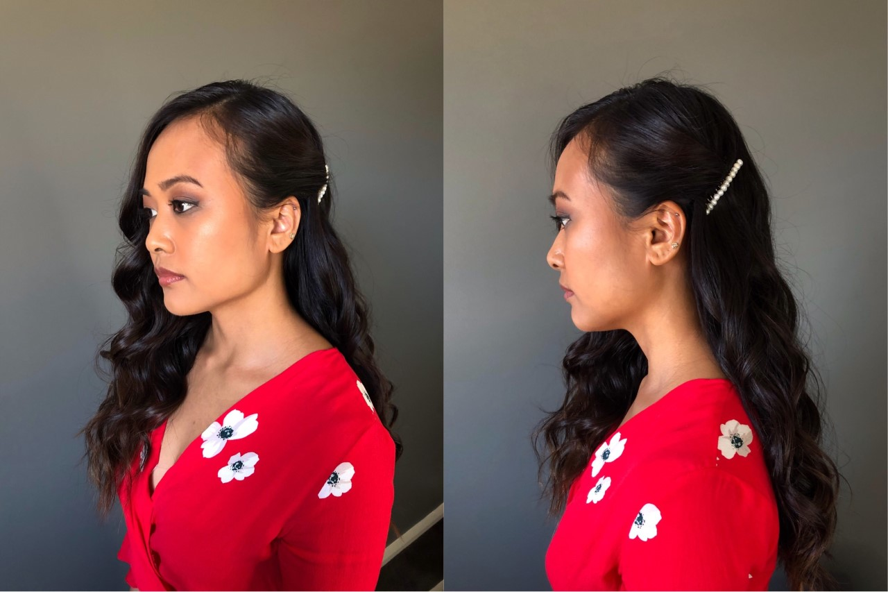 LOOK TWO: Side Swept Soft Curls