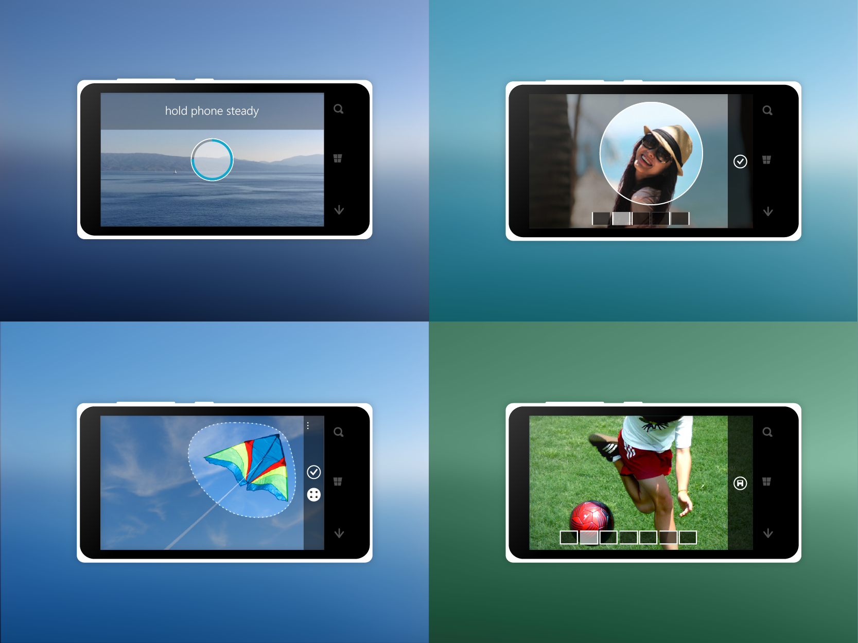 Family of apps - Panorama was one app in a family of camera apps that our team developed for Windows Phone.