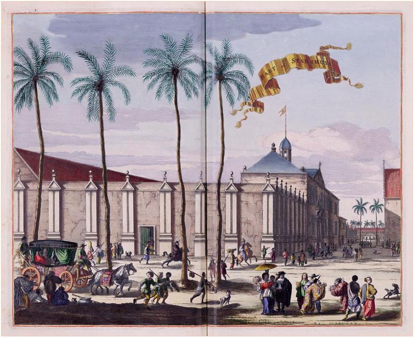 (The Dutch City Hall in Batavia, Indonesia)