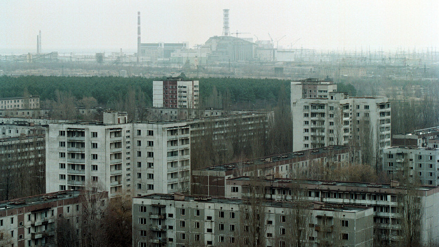 A view of the town of Pripyat and the Chernobyl Fourth Reactor. Chernobyl, the site of the world''s worst nuclear disaster, was closed down for good in December 2000.