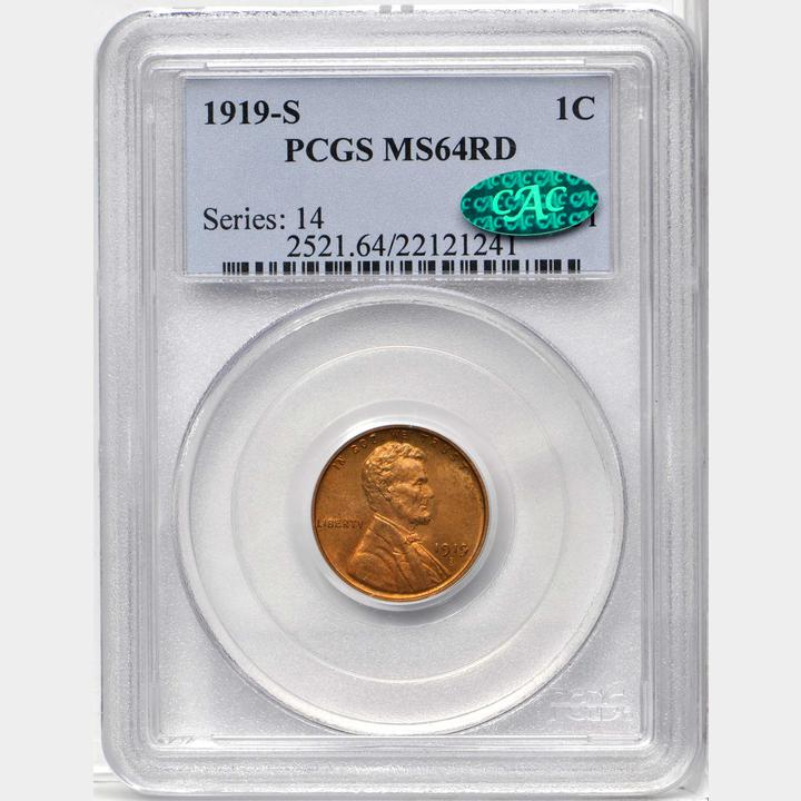 1919-S MS64RD CAC - From the ESM Collection Sale - Stack's Bowers Baltimore March 22, 2018