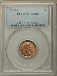 1915-S MS65RD - Purchased 10/11/18 Heritage Auctions. This 340 registry point coin looks a lot better than this picture. Heritage has the absolute worse Lincoln photos. I've seen better cell phone photos of coins.